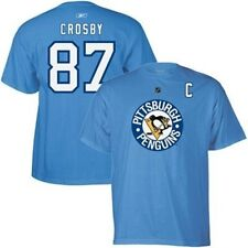 Sidney Crosby Pittsburgh Penguins Light Blue Reebok Name & Number T-Shirt