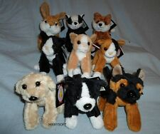 NEW DOWMAN SOFT TOUCH TOYS - DOGS CATS ALSATIAN COLLIE RETRIEVER FOX BADGER