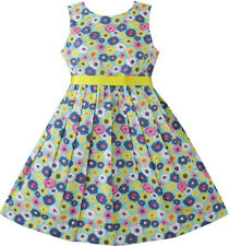 Girls Dress Yellow Daisy Beach Sundress Boutique Child Clothes Size 2-10 New