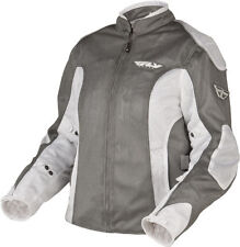 FLY RACING Ladies Cool Pro 2 Motorcycle Silver Jacket Harley Yamaha Girls Honda