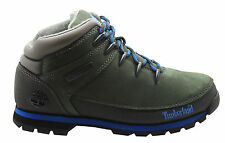 Timberland Euro Sprint Mens Hiker Boots Hiking Green Leather Nubuck 61557 D45