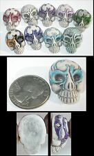 1 Lg. Day of the Dead Carnival Mask Style SUGAR SKULL Bead - Choose Your Color!