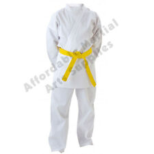 White Adult Karate Suit / Karate Gi / Karate Uniform FREE White Belt FREE UK P&P