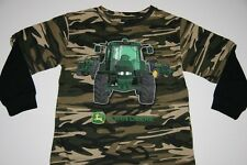 NWT JOHN DEERE Boys Sizes 4 5/6 7 Small Medium Large L/S Shirt Tee T Tractor