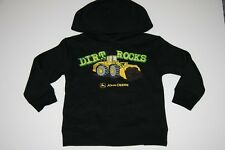 NWT JOHN DEERE BOYS 4 5/6 7 Small Medium Large Sweatshirt Hoodie DIRT ROCKS