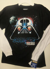 Boys Angry Birds Star Wars Black WhiteTwo Toned Long Sleeve Top SIzes S,M, L