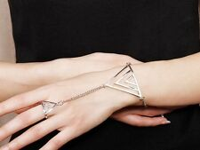 Hot Selling New Beautiful Fashion Bracelet With Finger Ring 2colour U pick A1329