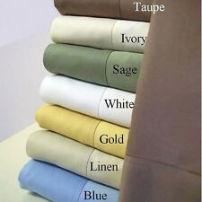 600TC EGYPTIAN COTTON BED SHEET SET SALE 25 COLOR ALL USA SIZE MAKE YOUR CHOICE