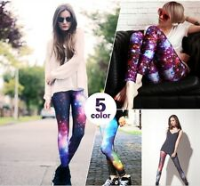 Cosmic US Galaxy Leggings Starry Night Sky Milky Way Aurora Space Hipster Trendy