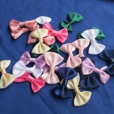 40/200Pcs Cute Ribbon Flowers Bows Crafts Sewing Wedding Appliques ZXA25