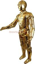 Choose Size - STAR WARS C3PO Decal Removable WALL STICKER Home Decor C-3PO Movie