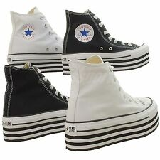 Converse Chuck Taylor Platform Hi Classic Casual Shoes Black / White Select 1