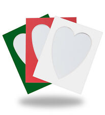 HEART SHAPED PHOTO/PICTURE MOUNTS - LARGE RANGE OF COLOURS & SIZES