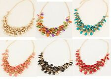 New Arrive Lady Gold Plated Fashion Unique Noble Bead Bib Necklace Hot  A1509