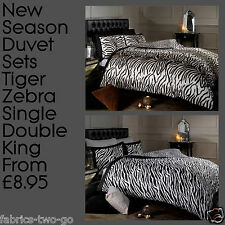 Funky Zebra or Tiger Print Duvet Cover Bed Set Single Double or King Size