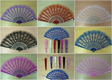 1x Chinese Wing Chun Style Dancing Fun Folding Lace Hand Fan