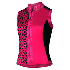 Women's S-Cut Snakeskin Sleeveless Cycling Jersey in Berry Pink by SheBeest