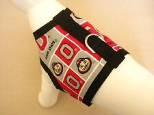 Dog Harness Vest Clothes Apparel Made From OSU Ohio State Buckeyes Fabric