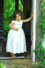 New Elegant girls special occasion smocked silk dress boutique design 16847