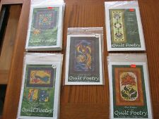 Applique Patterns for Wall Hanging, Quilt, Table Runner Designs by Quilt Poetry