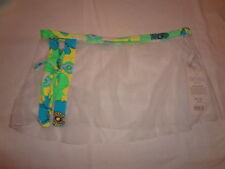 PAN DULCE White Swimsuit Coverup Wrap Skirt NWT