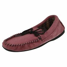 Ladies' Bella mauve Suede Moccasin Slippers
