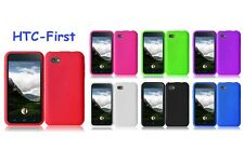 For HTC First Facebook Silicone Cover Case + LCD Screen Protector