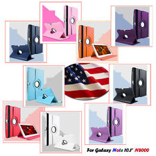 "360 Rotation Leather Cover Case Stand for 10.1"" Samsung Galaxy Note N8000 N8010"