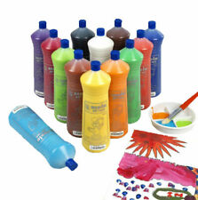 SCOLA ARTMIX 600ml BOTTLES READY MIX CRAFT POSTER PAINT 13 COLOURS SINGLES SETS