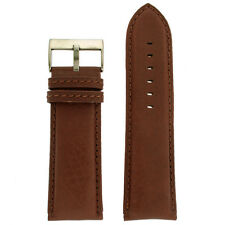 Extra Wide XL Watch Band Genuine Leather Calfskin Dark Brown