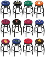 Choose NCAA P-Z Team L8B2B Black Single-Ring Swivel Bar Stool w/ Accent Ring