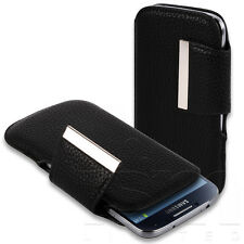 SLIM STYLISH FOLD OVER CLASP PU LEATHER POUCH CASE FOR VARIOUS MOBILE PHONES
