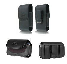 Horizontal + Vertical Leather Case Cover Pouch Clip w Loops for Verizon Phones