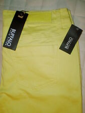 Buffalo Gibson Skinny Size 26 28 | L29 Mid Rise Womens Yellow Jeans New $119