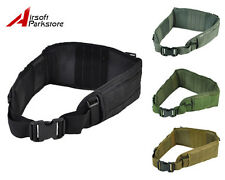 Airsoft Molle Tactical Waist Padded Belt with Suspender 4 Colors BK/Tan/OD/ACU
