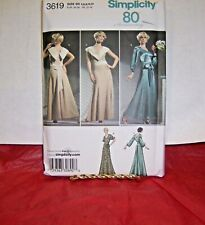 Simplicity 3619 80th Anniversary Vintage Evening Gown Pattern 4-12 or 12-20