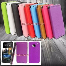 Ultra Slim Leather Protector Flip Wallet Case Cover Pouch for HTC One M7 HTL22