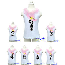 1st - 7th Birthday Pink Hat Cowgirl Party White Tank Top 3M-10Y