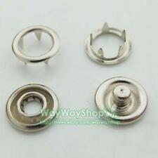 """20 50 100 200 500 sets 3/8"""" 9.5mm Open Ring No Sew Snaps Fasteners Nickel Rivet"""