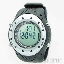 30m Waterproof Backlit Pedometer Calories Counter Dual Countdown Watch w Memory