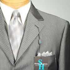 48L STEVE HARVEY  Dark Gray Striped  SUIT SEPARATE  48 Long Mens Suits - SS15