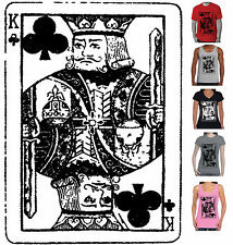 King Card Poker Game Men's Women's Hobo T-Shirts Singlets size top tee  Hoodie
