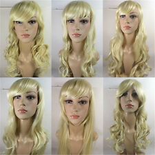 New Fashion Women's Long Hair Synthetic Full Lace Wigs Wavy Pure #613
