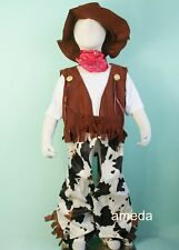 HALLOWEEN COWBOY PARTY DRESS UP COSTUME 6PC BIRTHDAY OUTFIT XMAS 1-10Y Z087
