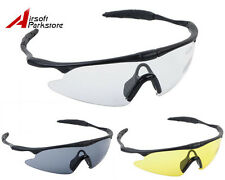Airsoft Sporty UV400 Protection Police Shooting Glasses 3 Colors BK/Yellow/Clear