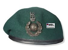 RM-ROYAL MARINES COMMANDO WO1 & OFFICER GREEN BERET & BRONZE CAP BADGE ( SBS)