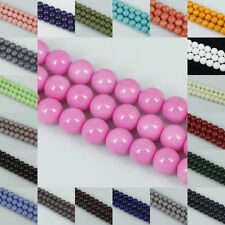 Assorted Multi-colors Round Glass Pearl Spacer Beads for Jewery Making DIY
