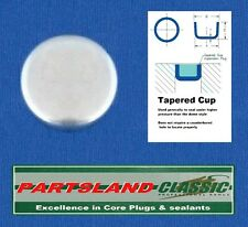 """Cup Core Plug Plated Size from 6.35mm 1/4"""" to 25.4mm 1"""""""