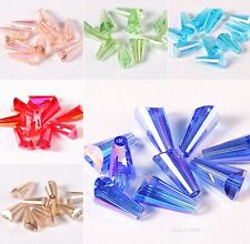 20/100pcs Conical Glass Crystal Spacer Loose Finding Beads  8x15mm Jewelry DIY