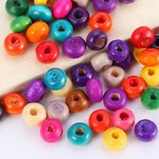 1000pcs Mixed Colors Wholesale Wood Round Spacer Beads Jewelry Finding DIY 3x4mm